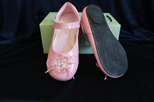 #335 NEW TODDLER GIRL DRESS SHOES SHINY Pink 4-6 Years Old Wedding/Party