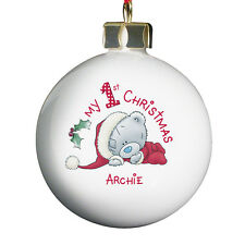 PERSONALISE ADD A MESSAGE ME TO YOU CHRISTMAS TREE DECORATION 5 DESIGNS