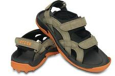 Crocs XTG LoPro Golf Sandals Walnut/Pumpkin New Medium Width 14662-228