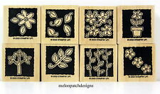 Stampin Up 8 Flower & Leaf Rubber Stamps from GARDEN BLOCKS