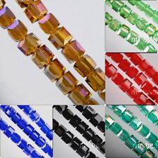 Loose 20pcs Lampwork Cube Glass Crystal Spacer Beads Craft Jewelry Finding 8x8mm