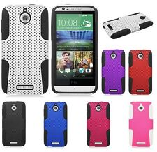 MESH HYBRID SILICONE SKIN + HARD CASE for HTC DESIRE 510 cell phone