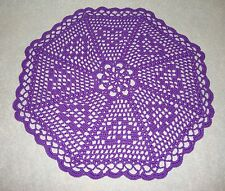 TAMS HEARTS DOILY~12 INCH~AQUA~BLUE~PINK~CORAL~PURPLE~YELLOW~DUSTY ROSE~CROCHET