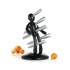 Voodoo Knife Block Set with 5 Stainless Steel Knives Red- Black- White 3 colours