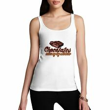 Womens Cotton Novelty Funny Cute Gift Better Day Chocolate Tank Top