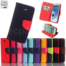 Flip Stand Wallet Leather Cover Case for Samsung Galaxy S3 S4 S5 mini Note 2 3
