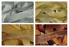 Berisfords Metallic Woven Lame Ribbon   4 Shades - 5 Widths - 4 Lengths