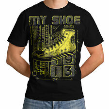 Wellcoda | NEW My Shoe High Sneakers Day Mens Womens S-5XL T-Shirt *d103
