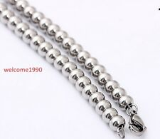 More Size Round Solid Beads Chain Necklace Bracelet Stainless steel Fashion Gift