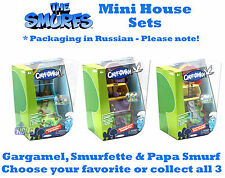 Smurfs Mini House & figures collectible in Russian Packaging. BRAND NEW UK