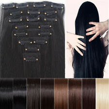 SEXY Women long Full Head Clip in Hair Extensions 18clips cosplay DIY styles W2