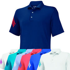 Adidas Golf Men's ClimaCool Puremotion 3 Stripe Solid Polo Shirt - Brand NEW