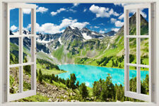 Window 3D Scape Decal Sticker Art Mural Instant View Forest Trees Wall Graphic