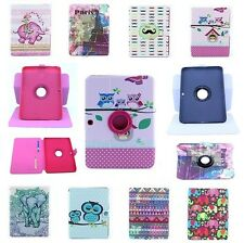 New Various Cute 360 Rotating PU Leather Tab Stand Case Cover For Samsung Galaxy