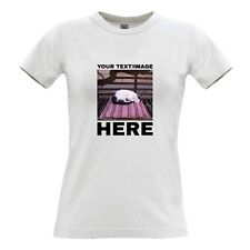 Your Image Photo Picture Here Custom Personalised Womens T Shirt Printing Hen