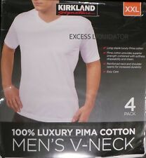 8 NEW MENS, KIRKLAND SIGNATURE, LUXURY PIMA V NECK T-SHIRTS 2 PACKS OF 4