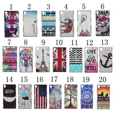 Cute Fashion Embossed colored drawing Pattern Hard Back Case Cover For Phones