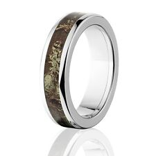 Official Licensed RealTree Max 1 Titanium Ring, Camo Rings, Camo wedding bands