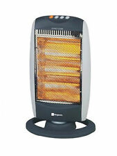 OSCILLATING HALOGEN ELECTRIC PORTABLE HEATER 1200w FOR HOME OR OFFICE 3 SETTINGS