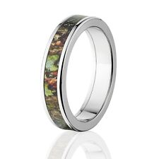 Camo Rings, Mens Camo Wedding Bands, Licensed Mossy Oak Obsession Rings