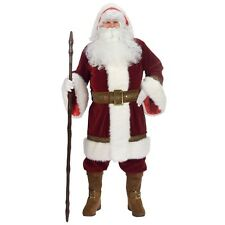 Santa Suit Deluxe Victorian Old World Claus Christmas Costume Fancy Dress