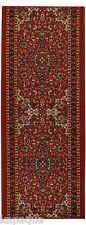 Custom Size Stair Hallway Runner Rug Rubber Back Non Skid Red Persian #5030