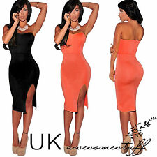Womens Celeb Sexy backless Club Strapless Bodycon Going Out Party Evening Dress