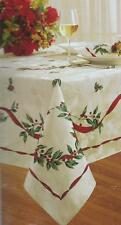 CHRISTMAS LAUREL WREATH HOLIDAY XMAS TABLECLOTH VARIOUS SIZES
