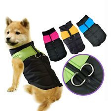 Warm Waterproof Small Dog Pet Coat Jacket Winter Quilted Padded Puffer Clothes