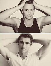 FRANCO BROTHERS hot sexy james franco dave franco brothers photo glossy t-shirt