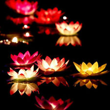 5pcs Paper Lotus Flower Wishing Lamp Floating Water Light Chinese Lanterns