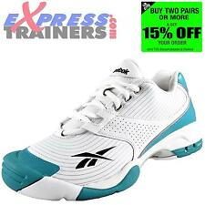 Reebok Womens S+R Premium Fitness Tennis Gym Aerobics Trainers White *AUTHENTIC*