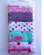 Girls 5 Pack Cotton Hipster Shorts / Knickers / Pants 5-6 7-8 9-10 11-12 13 Year
