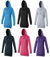 Hoodie,AWDIS Just Hoods Girlie Ladies, Womens, Longline Long Length Hoody