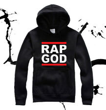 Rap God Allover Eminem Fleece Hoodie Detroit Rap Slim Shady Records Sweatshirt