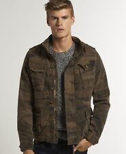 New Mens Superdry On Duty Military Jacket Camo Green BFM