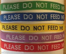 Please Do Not Feed Me Collar For Cats - Embroidered NOT Printed
