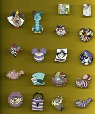 Alice in Wonderland Queen of Hearts Cheshire Cat Mad Hatter Splendid Disney Pin