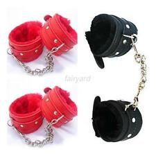Leather Slave Hand Ring Handcuff Ankle-cuffs Restraint Bondage Fetish Sex Toy