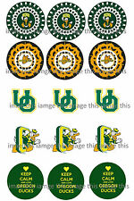 PreCut Oregon Ducks One Inch Circles (Bottle Cap Images)