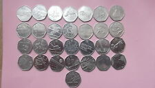 50p COINS - OLYMPIC GAMES - SET - INCLUDES TRIATHLON