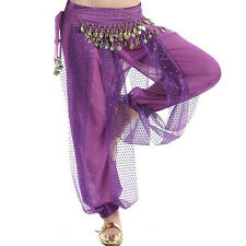 Belly Dance Tribal Costume Shinny Sequin Balloon Bloomers trousers UA0010