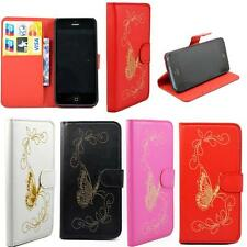 Wallet Leather Card Holder Flip Stand Skin Hard Case Cover For Apple iPhone 5 5S