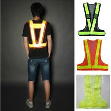 Hi-Viz Reflective Vest High Visibility Warning Traffic Construction Safety Gear