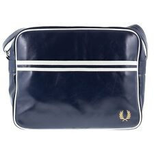 New Mens Fred Perry Blue Shoulder Bag Synthetic Bags Flight