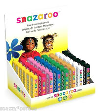 SNAZAROO FACE PAINT STICKS 8cm Classic Stage Theatre Make up School Party Faces