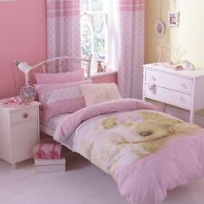 Single Double Girls Pink Duvet Set With Pillow Case Quilt Cover Children Bedding