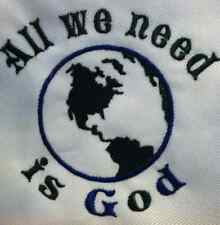 All we need is God. Carter's  Baby Bodysuit Embroidery