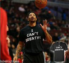 I CAN'T BREATHE-BLACK T-SHIRT-ALL SIZES-ERIC GARNER-DERRICK ROSE-LEBRON-SUPPORT
