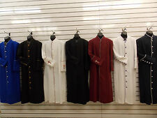 MEN'S CLERGY ROBES, Pastor, Preacher, Minister, 6 Colors, All Sizes